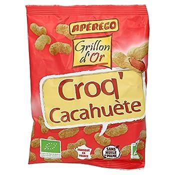 Grillon d'or Croq'Cacahuète 50 g Bio - Lot de 3