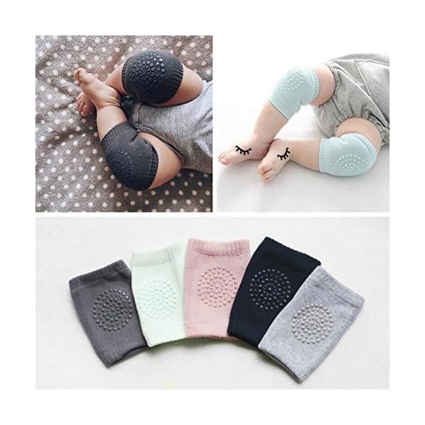Cojín de codo antideslizante para rodillas, protector de seguridad para bebés y bebés azul verde Talla:Normal 5