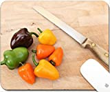 Luxlady Natural Rubber Gaming Mousepads Bell Peppers on - Best Reviews Guide