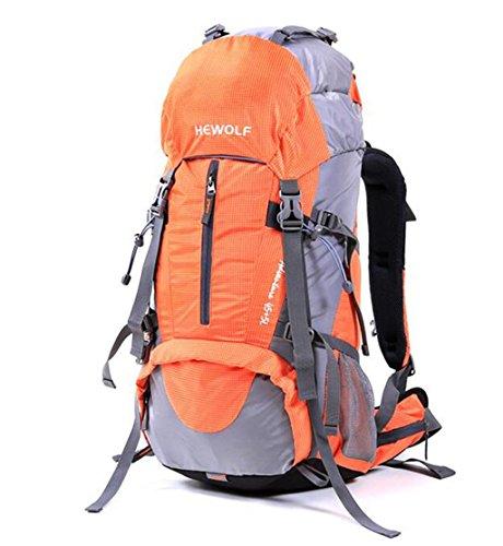 Mountaineering Rucksack Tasche wasserdichten Outdoor-Männer und Frauen wandern Reisen Folding Rucksack Reiten Orange