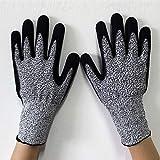 TKFY Arbeitsschutzhandschuhe HPPE Anti-Schneid-Handschuhe Für Küche, Garten Und Baustelle Nitril-Butadien Europäische Norm Klasse 5 Verschleißfest Anti-Stechen 2 Paare Frei Größe