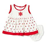 Camey Girls Red Apple Cotton Frock Set (...