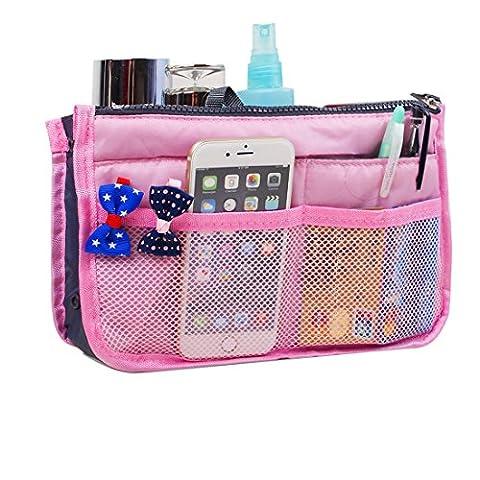 JET-BOND UXB01 Handbag Organizer Liner Purse Insert Inner Tote (Pink)