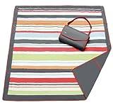 JJ Cole JEMGR/EMGR - Essentials Blanket Picknickdecke /Krabbeldecke /Spieldecke, bunt gestreift - rot /grau