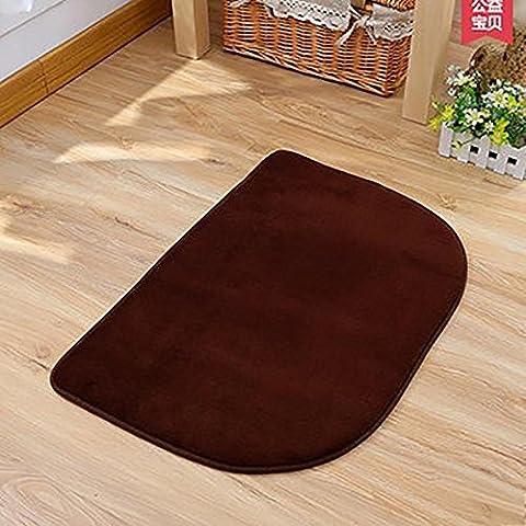 New day-Stuoia di bagno camera da letto Asciugapassi non - scivolare mat semi - lavare a mano lavabile macchina circolare , coffee color , 120*160