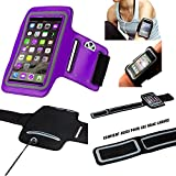 MP-France Samsung Galaxy Note 8 Brassard Sport Neoprene pour Telephone Portable (Smartphone) Course A Pied Randonnée Running Scratch Reglable - Activite Sportive - Violet