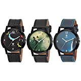 Men's Combo Pack of 3 Multicolor By MECL...