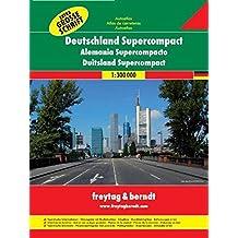 Freytag Berndt Autoatlanten, Deutschland Supercompact - Maßstab 1:300 000