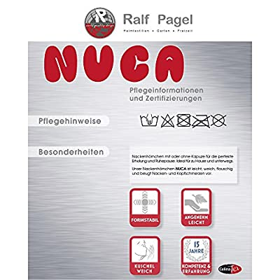 Nackenhörnchen Nackenkissen | verschiedene Ausführungen und Farben | Nackenrolle 32 x 31 cm, Füllung Micropearls | CelinaTex Nuca