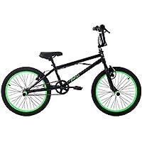 KS Cycling BMX Freestyle Yakuza Fahrrad, schwarz/Neongrün, 20 Zoll