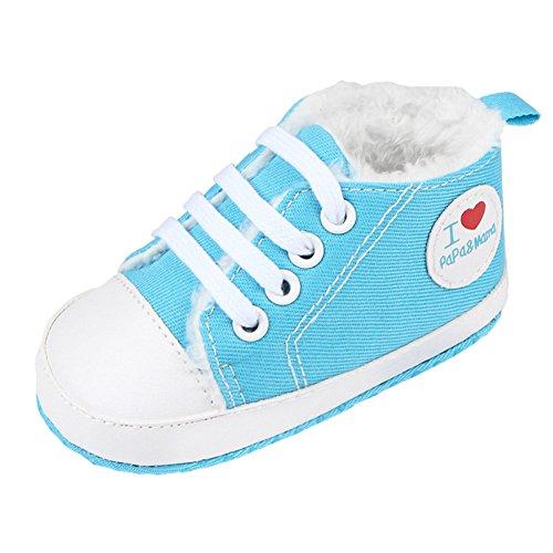 Fire Frog  Winter Sneaker, Baby Jungen Lauflernschuhe Hellblau