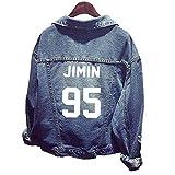 BTS Jacket Chaqueta Jeans Coat for Army BTS Kpop Hoodies Suga Jin Jimin Jung Kook J-Hope Rap-Monster V
