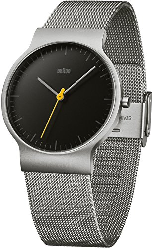 Braun Reloj analógico para Hombre de Cuarzo con Correa en Acero Inoxidable BN0211BKSLMHG