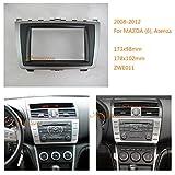 autostereo 08–011Doppel DIN Autoradio Radioblende Armaturenbrett Adapter für Mazda 6Atenza 2008–2012Auto Radio Installation Trim Faszie