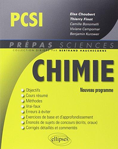 Chimie PCSI Programme 2014