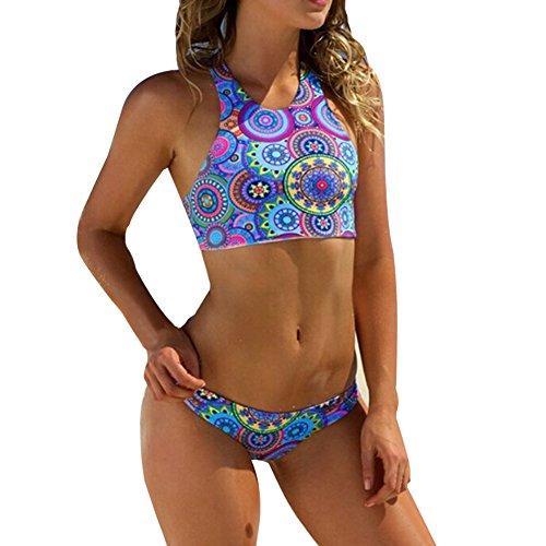 Moresave Donne Stampato push-up Reggiseno imbottito in estate di usura della spiaggia del costume da bagno