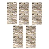 B Blesiya 5pcs Pegatina de Pared Autoadhesiva Papel Pintado de Ladrillo de Imitación 3D Arte Mural Ornamento para Habitación Estudio Balcón