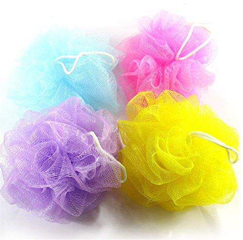 sungpunet 10PCS Bad Dusche Körper Puff Schwamm Mesh Ball zufällige Farbe - Dusche Puff