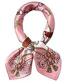 EEVASS Multifunzione Sciarpa in Raso Quadrato Foulard di Seta Moda per Donna (#1 Rosa)