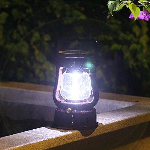 Klappbarer Holz-box (Solarlampe Garten LED Solarleuchte Acryl ABS Kunststoff Außenlampe Leuchte Wandlampe Solar für Garten, Terrasse, Fahrtweg, Höfe, Klappbarer Tragegriff Camping Weiß Licht. (IP65))