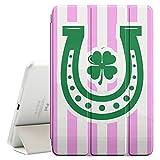 FJCases Linienmuster Hufeisen Irisches Kleeblatt Glück (Hellrosa) Smart Cover Tablet-Schutzhülle Hülle Tasche + Auto aufwachen / Schlaf Funktion für Apple iPad Mini 4