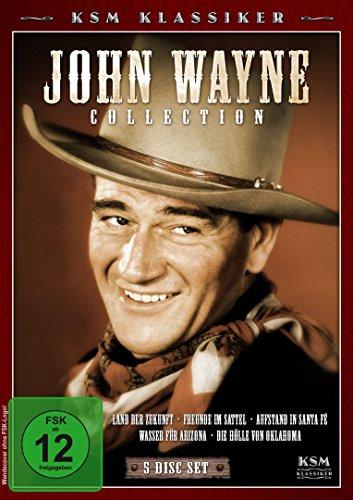 John Wayne Collection - Land der Zukunft/Freunde im Sattel/Wasser für Arizona/Aufstand in Santa Fe/Die Hölle von Oklahoma [5 DVDs]