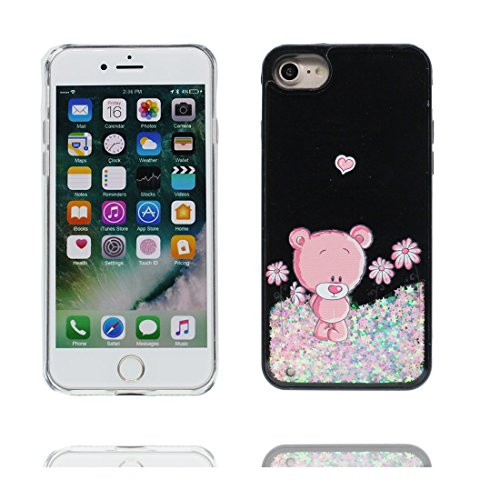 "iPhone 7 Plus Coque, Case iPhone 7 Plus Étui 5.5"", ours -Bling Glitter Flowing Funny Silicone Ultra Slim, Shock Dust Resistant Shell iPhone 7 Plus Cover 5.5"" # 5"
