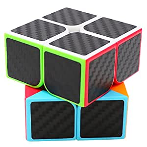 Speed Cube 2x2x2, LSMY Puzzle Magic Cubes Carbon Fiber Sticker Toy