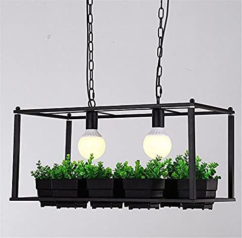 Kronleuchter Kreative Pflanze Topf Rack Kronleuchter quadratische Topf Blume Shop Bar Balkon mit schmiedeeisernen Kronleuchter Kronleuchter
