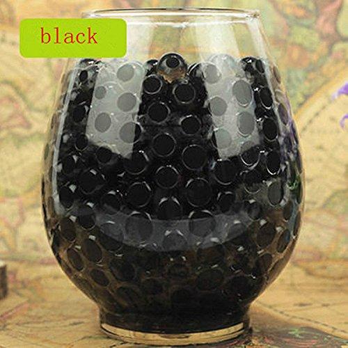 Bolas de Burbujas para Juguetes decoración, Relleno de Orbeez, Relleno de florero, Suelo, decoración de Plantas, Plantas de bambú (Negro),Paquete de 100 PCS