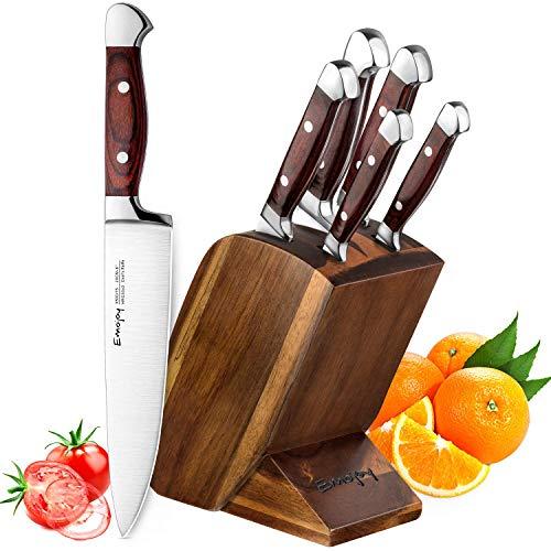 Emojoy Bloc de Couteaux, Set Couteaux Cuisine...