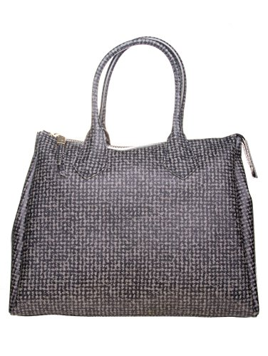 GUM BY GIANNI CHIARAINI BORSA DUE MANICI GRANDE STAMPA TWEED, 1741.GUM.TWEED
