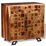 Festnight Holzkommode Sideboard Massives Sheesham-Holz 65 x 35 x 65 cm