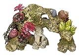 Aquarium Dekoration Aqua Ornaments KORALLE mit Pflanzen L18,5 x B8 x H12 cm