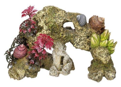 """Aquarium Dekoration Aqua Ornaments """"KORALLE"""" mit Pflanzen; L18,5 x B8 x H12 cm"""