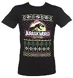 TruffleShuffle Jurassic World Fair Isle Herren Weihnachts T Shirt