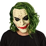 EFINNY Halloween spaventoso copricapo in lattice maschera da burlone, maschera in lattice da clown intrecciata da uomo, costume da clown Cosplay film per adulti festa in maschera