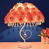 YL-Light Lampada Da Tavolo Europea Rosa Lampada Da Tavolo A LED Romantica Di Lusso In Cristallo Per La Decorazione Domestica,Pink