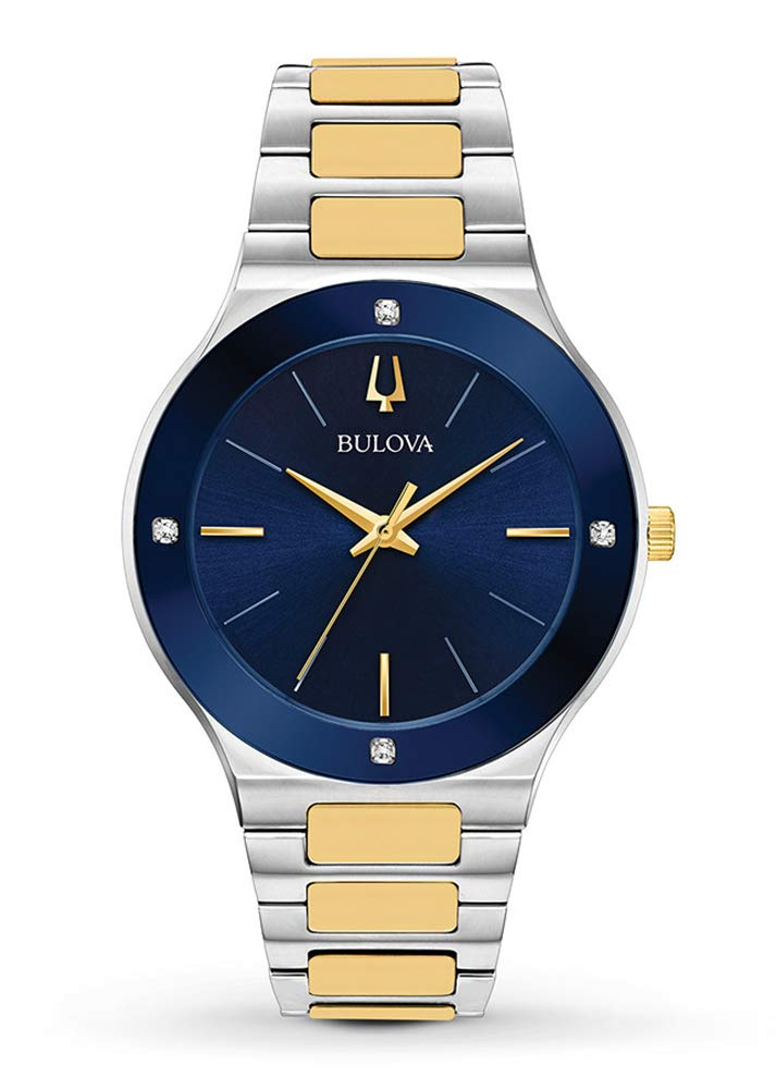 Bulova Mens Analogue Quartz Watch with Stainless Steel Strap 9.8000000000000006E+118