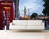 Vinyl Wand Big Ben Westminster Abbey London | Fototapete für Wände | Wandbild | Dekoratives Vinyl | Verschiedene Maße 200 x 150 cm | Dekor Esszimmer, Wohnzimmer, Zimmer .| Elegantes Design