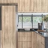FANCY-FIX Selbstklebende Möbelfolie mit Holz-Optik für alle Möbel, Flur, Wand, Küche und Wohnzimmer – Klebefolie – Hochglanz Aufkleber Folie (44x300cm)