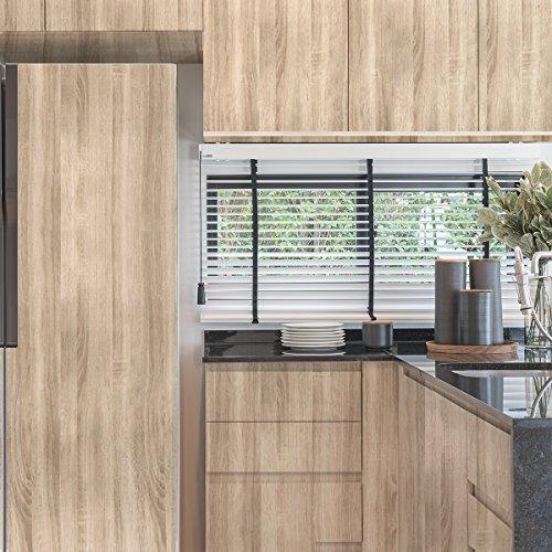 Selbstklebende Möbelfolie mit Holz-Optik für alle Möbel, Flur, Wand, Küche und Wohnzimmer – Klebefolie – Hochglanz Aufkleber Folie, FANCY-FIX (44x300cm)