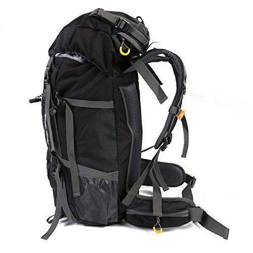 50L Travel Rucksack, ideal für Outdoor Sport, Wandern, Trekking, Camping Reisen, Bergsteigen. Wasserdichte Bergsteigtasche, Reiseklettern Daypacks, Rucksack, Rucksack Schwazr