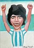 Poster 21 x 30 cm: Diego Maradona is Happy di Diego Manuel Rodriguez - Stampa Artistica Professionale, Nuovo Poster Artistico