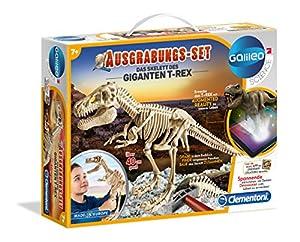 Clementoni 69491.4-Galileo, Juego de Desenterrar, el Esqueleto del giganten T Rex