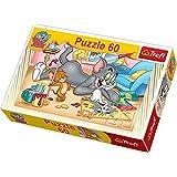 Trefl - Puzzle Tom y Jerry de 60 piezas (21.3x14.3 cm) (17159)