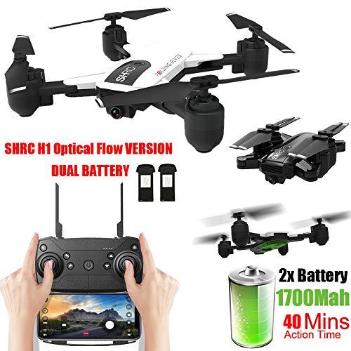 JJggsi4_drone con Telecamera Drone Pieghevole per Selfie con Flusso Ottico altitudine Hode WiFi 1080P SHRC H1 1080P Manutenzione dell'altitudine, Pianificazione delle Rotta di Volo
