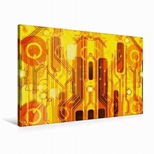 Strukturierte Leinwand Kunst (Premium Textil-Leinwand 90 cm x 60 cm quer Kirche auf goldenem Hintergrund | Wandbild, Bild auf Keilrahmen, Fertigbild auf echter Leinwand, ... macht sich immer gut. (CALVENDO Technologie))