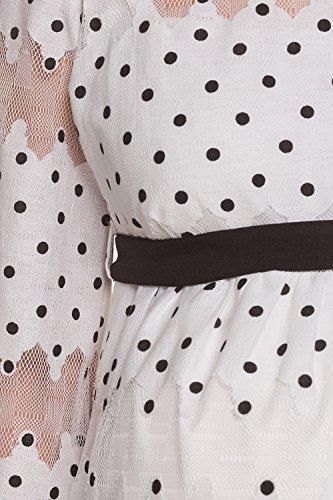 My Tummy Mutterschafts Kleid Umstands Kleid Amelia mit Spitze Polka Dot Elegant Hochzeit - 4
