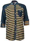 Kidzee Brown Stylish Striped Denim Shirt...